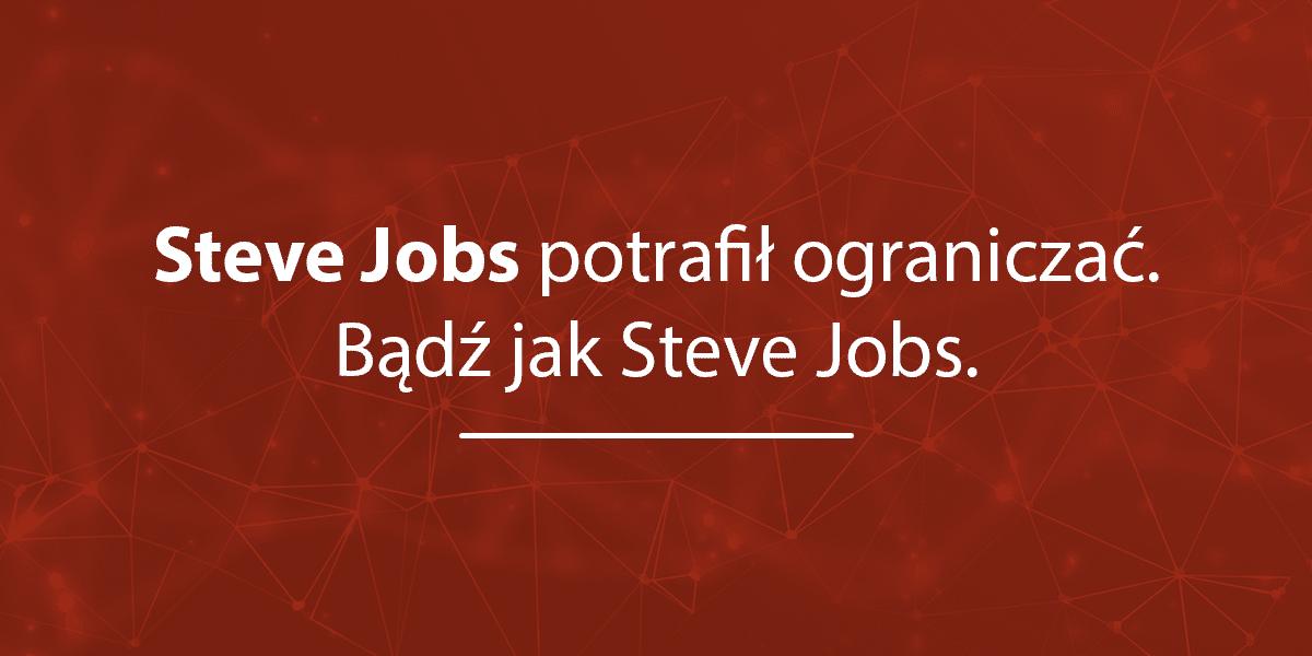 banner steve jobs cytat